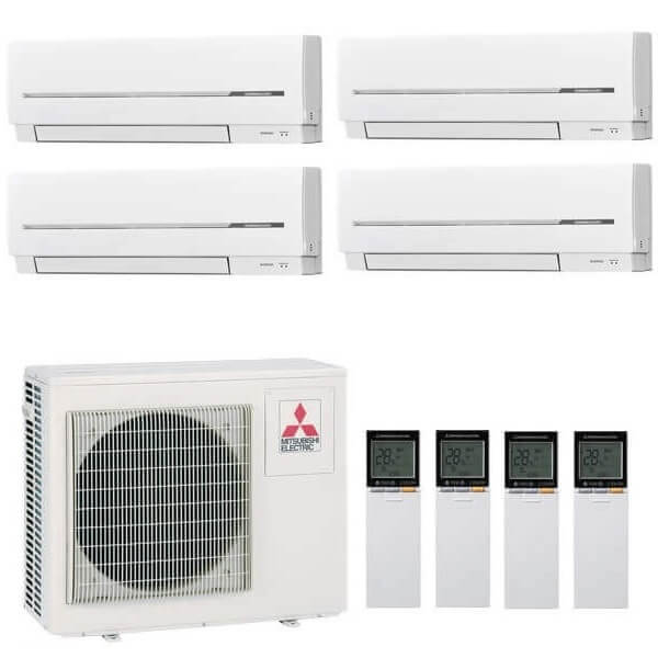 Mitsubishi Electric MXZ-4E72VA / MSZ-SF25VE x2 + MSZ-SF15VA x2